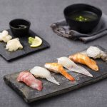 Delicious Sushi Snack Food Street